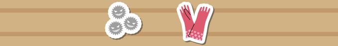 カビ菌とゴム手袋